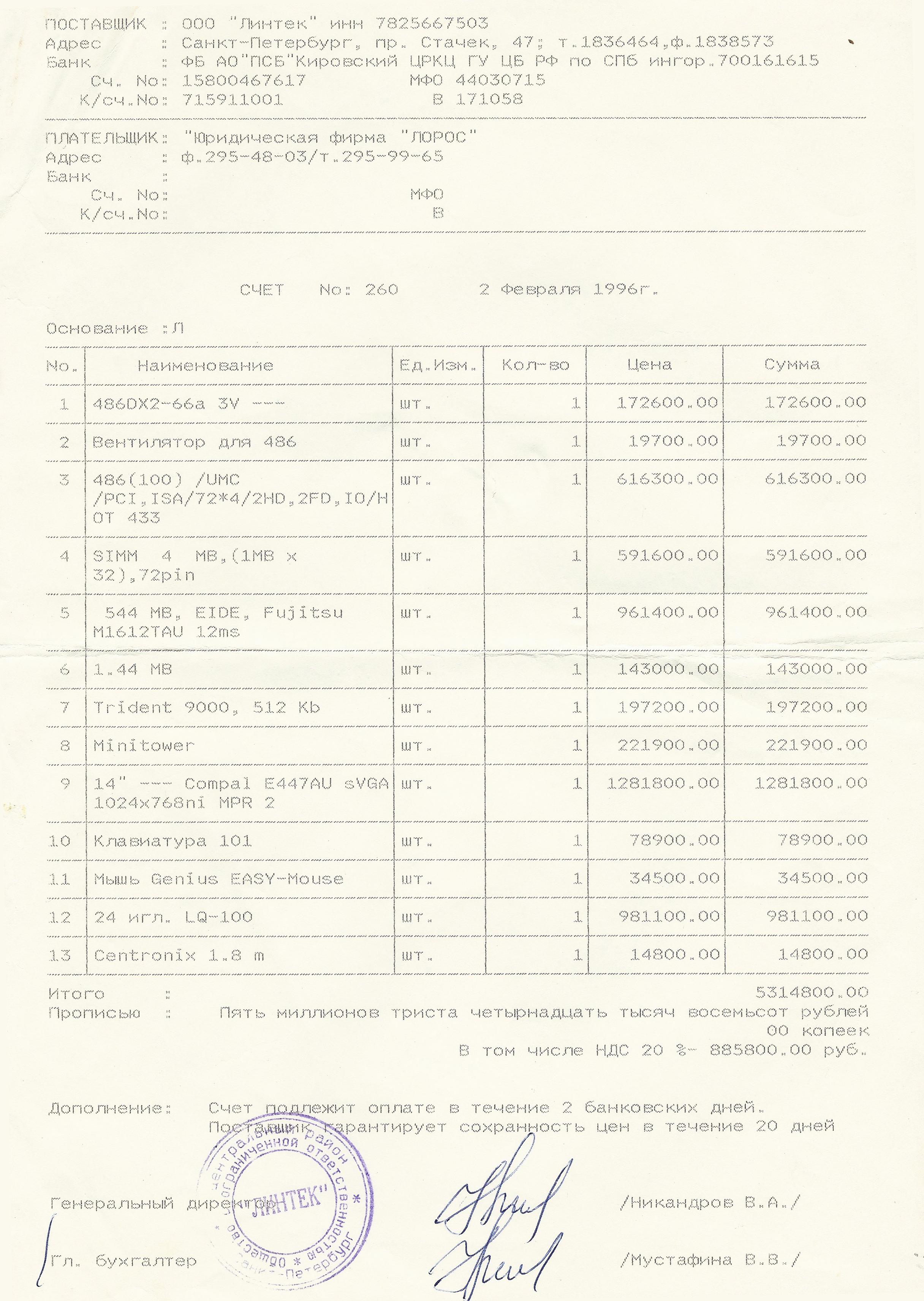 98c7a53e343a4 Привет из 1996 г.: Персональный компьютер за 5 млн. руб / Хабр